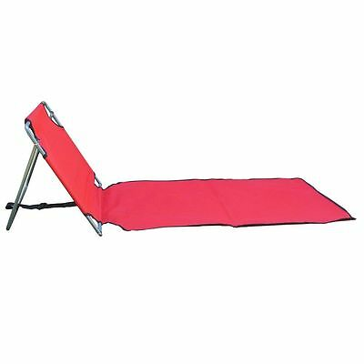 Portable Folding lounge chair beach patio pool yard lightweight lounger RED