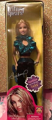 """Britney Spears Rare Htf Video Performance Collection Doll Play Along """"lucky"""" Vid"""