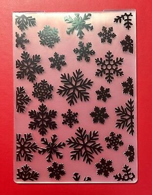 NEW• SNOW FLAKES CHRISTMAS EMBOSSING FOLDER For Cuttlebug Or Sizzix