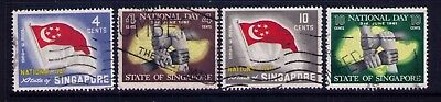 Singapore 1960-61 Map and Flag SC# 49-52 Used