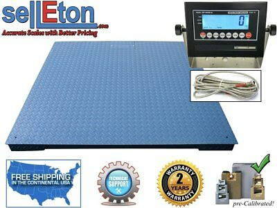 "Heavy Duty Industrial Floor scale 7' x 7' / 84"" 20,000 lbs x 5 lb & LCD display"