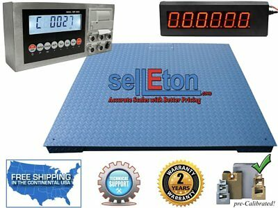 "Heavy Duty Industrial Floor scale 6' x 6' / 72"" 20,000 lbs x 5 lb"
