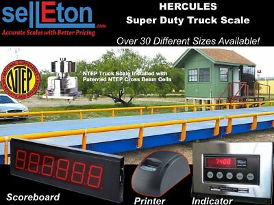 Truck Scale 10 x 10 ft Truck Scale 85000 lb Steel Deck NTEP APPROVED