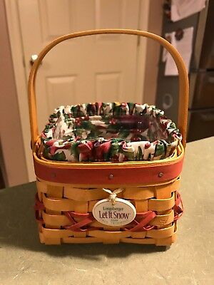 2000 Longaberger Tree Trimming Let It Snow Basket Set   K#103