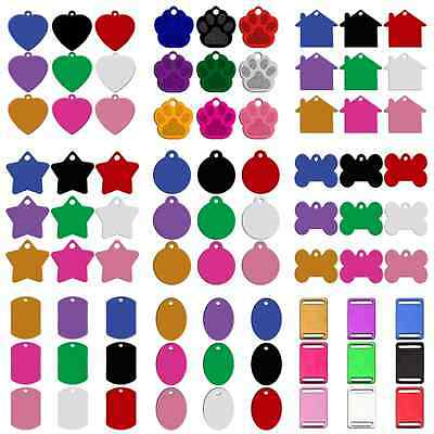 80pcs Blank Personalized Dog Tags for Pets Custom Engravable Dog Collar Disc