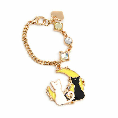 Anime Sailor Moon Luna Artemis Keychain Pendant Women Bag Black White Cat Charm