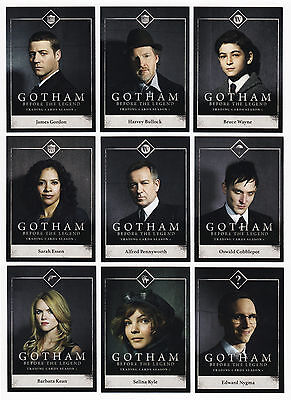 2016 Gotham Series 1 - 100 Trading Card Mini-Master Set - 72 Base + 3 Chase Sets