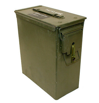 USGI 60mm AMMO CAN PA-60 Steel Large Removable Lid Military Surplus EXCELLENT