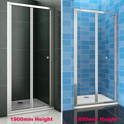 700/760/800/860/900/1000mm Bathroom Bi Fold Shower Door Enclosure Glass Screen