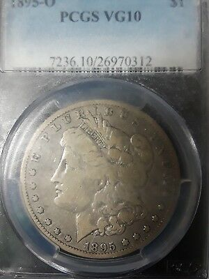 1895-O Morgan Silver Dollar PCGS VG10 SEE IF CAN FIND CHEAPER PRICE ON EBAY
