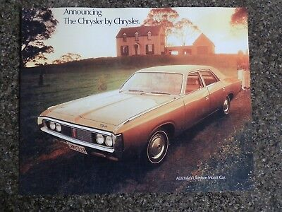 Chrysler By Chrysler (Valiant) 1972 Ch Sales Brochure. 100% Guarantee.