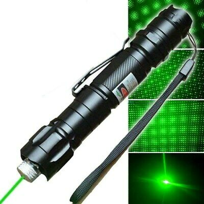 50Miles Visible Beam Green Laser Pointer Pen 532nm Star Cap Bright 18650 Lazer