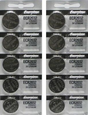 10 FRESH Genuine Energizer CR2032 ECR2032 3V Coin Button Batteries Fast Shipping