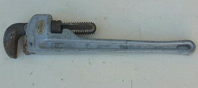 """RIDGID pipe wrench aluminum 18"""" plumbing tool tools used great condition (W4)"""
