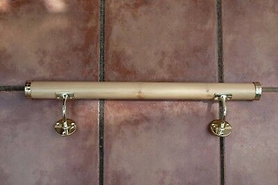 Ballet Barre 400mm Natural Pine Bar With Wall Mounted Brackets & End Caps DIY