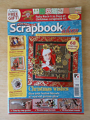 Australian Scrapbook Ideas #23~Xmas~Clay~Off The Page~Embellishments~Glitter...