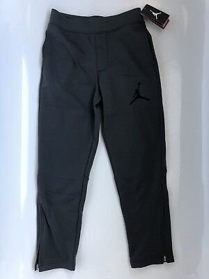 NIKE AIR JORDAN Boys Jumpman THERMA FIT Ankle Zip Sweat Pants GREY Youth Large