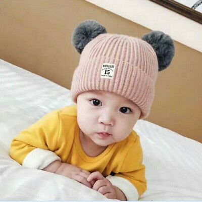 Cute Toddler Kids Girl&Boy Baby Infant Winter Warm Crochet Knit Hat Cap 2017 NEW