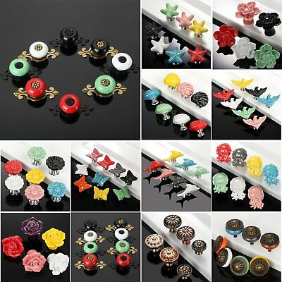 Ceramic Door Pull Handle Knobs For Furniture Cabinet Cupboard Drawer Hardware