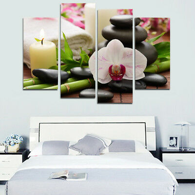 4pcs Unframed Modern Art Oil Painting Print Canvas Picture Home Wall Orchids