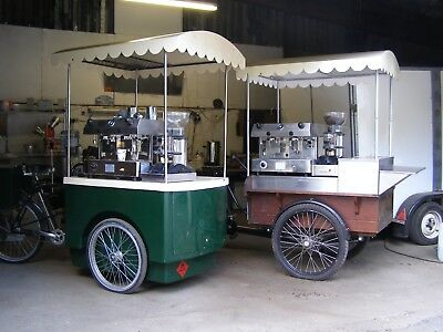 Mobile Coffee Bike Business with Luton Van and trailer