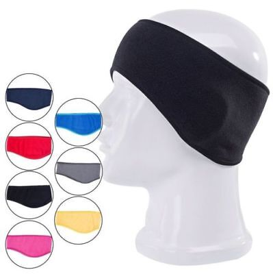 Womens Men Fleece Ear Warmer Headband Yoga Running Elastic Headband Ear Band