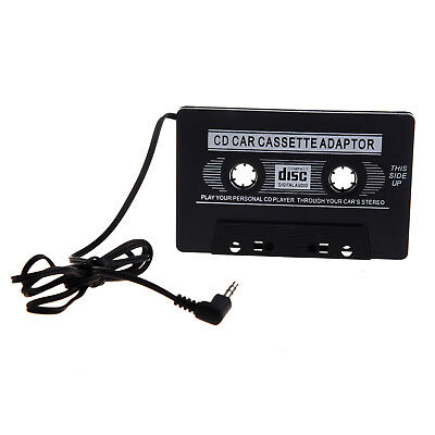 3X(Black Universal Car Audio Cassette Adapter Car Connection Pack 3.5mm aud W6Y2