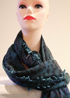 SPORTSCRAFT Mia print long fringes scarf green-black in colour new with tag