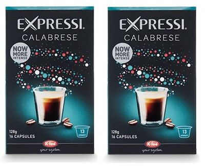 32 Capsules (2 boxes) Aldi Expressi Coffee Pods Calabrese - Intensity 13