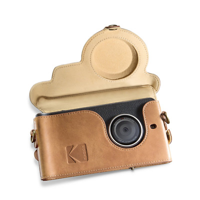 Kodak Ektra Phone Leather Camera Case - Brown/Yellow