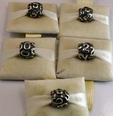Genuine LOVELINKS silver number beads, 0,2,3,5 & 9 available. Sold seperately