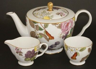 Wedgwood ~ Tea Garden ~ 1000ml Teapot, Milk Jug & Sugar Bowl ~ Brand New 1st