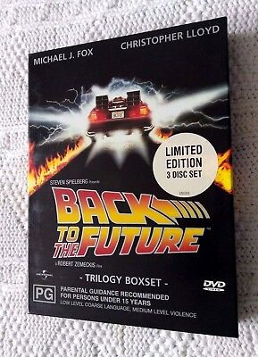 Back To The Future - Trilogy Box Set – Dvd, 3-Disc Limited Edition, Region: 2+4