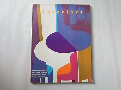 Vintage Interiors Magazine July 1964 Pam Am Restaurants NY State Theater + More