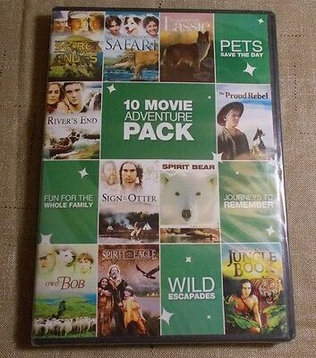 """""""10 Movie Adventure Pack"""" DVD 2011 ~ NEW IN THE PACKAGE!"""