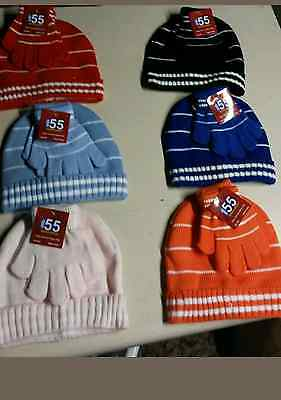 Kids Set - Gloves and Hat one size many colors great for winter *X