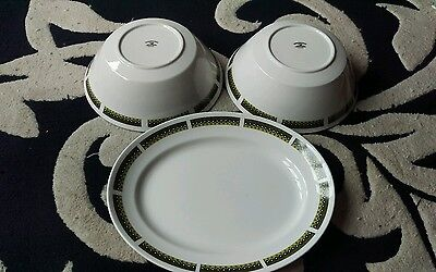 Three swinnertons ironstone 'padua' pottery items.