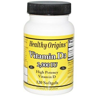 Healthy Origins, Vitamin D3, 2,000 IU, 120 Softgels same day dispatch