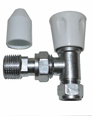 10mm x 1/2 Inch Angle Radiator Valve - PACK OF 2