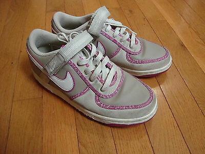 NIKE Air Athletic SHOES~Girls Size 5 Y~Women 6.5~Gray/Pink SNEAKERS
