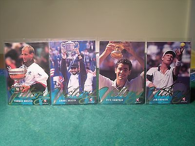 1996 Intrepid Blitz Tennis Victory 18 Trading Card Set Excellent Condition