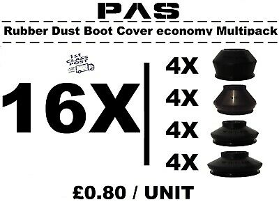 Universal Track Rod End Ball Joint Rubber Dust Boot Covers Gaiters Multipack 8X