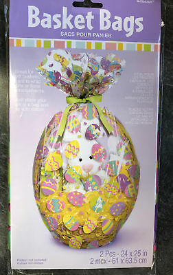 2 x easter eggs hamper wrap cellophane basket gift wrap large 2 x easter eggs hamper wrap cellophane basket gift wrap large cello basket bag negle Image collections