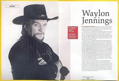 "Waylon Jennings, Country Music Star in 2014 Magazine Print Clipping, ""Legends"""