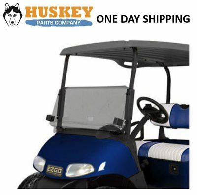 EZGO RXV Golf Cart Windshield W/ Rubber Trim Folding Tinted, Impact Resistant