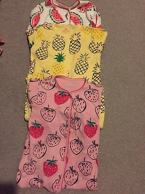 Next Girls Sleepsuits Fruit 18-24 New And Used FREE RECORDED DELIVERY