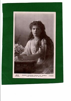 Real Photo Postcard Grand Duchess Marie of Russia C.1914 by Boissonnas et Eggler