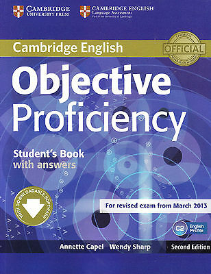 Cambridge OBJECTIVE PROFICIENCY CPE Student's Book w Answers Exam from 2013 @NEW