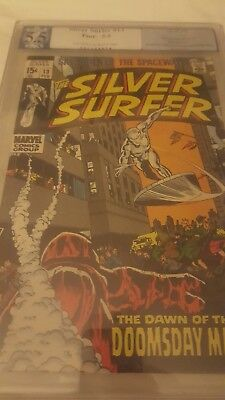 Graded Silver Surfer #13 1st appearance of Doomsday Man not cgc is pgx