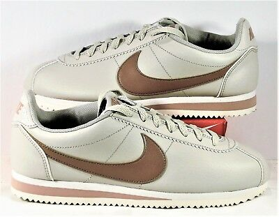 ca42c6892105 Nike Classic Cortez Leather Light Bone Particle Pink Womens Sz 10 NEW  807471 013